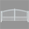 ALEKO® PARIS Style Swing Dual Steel Driveway Gates 16' X 6 1/4' in White Color with FREE SHIPPING!