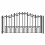 ALEKO® LONDON Style Single Swing Steel Driveway Gate 18'