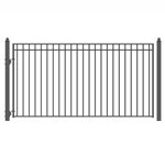 ALEKO® MADRID Style Single Swing Steel Driveway Gate 18'