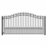ALEKO® ST.PETERSBURG Style Single Swing Steel Driveway Gate 18'