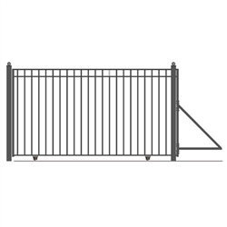 Madrid Style Single Slide Iron Driveway Gate - ALEKO