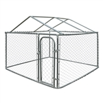 ALEKO DK7X7X4RF Dog Kennel 7.5 X 7.5 X 4 Feet (2.3 X 2.3 X 1.2 m) DIY Chain Link Box Kennel With Roof Frame