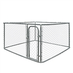 ALEKO Dog Kennel 7.5 x 7.5 x 6 Feet DIY Box Kennel Chain Link Dog Pet System Run for Chicken Coop Hens House