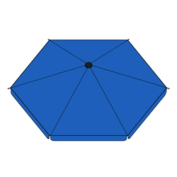 Umbrella Cover for Large Sized Heavy Duty Playpen - Blue - ALEKO