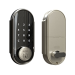 2-in-1 Keyless Entry Smart Door Lock with Touchscreen Keypad - Satin Nickel - ALEKO