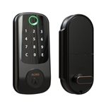 3-in-1 Keyless Entry Smart Door Fingerprint Lock with Touchscreen Keypad - Black - ALEKO