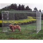 ALEKO® Dog Kennel 3 x 3 x 1.8 DIY Box Kennel Chain Link Dog Pet System, Run for Chicken Coop, Hens House