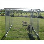 ALEKO® Dog Kennel 4 x 2.3 x 1.8 DIY Box Kennel Chain Link Dog Pet System, Run for Chicken Coop, Hens House