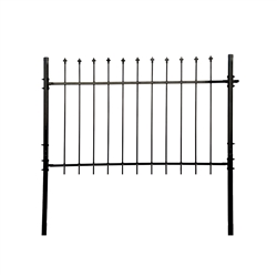 DIY Steel Fence Panel Kit - ATHENS Style - 5 x 5 Feet ALEKO