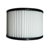 Replacement Pleated Vacuum Filter - Compatible w/ DWV165 Wet Dry Vacuum - White - ALEKO