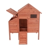 Raised Cedar Wood Chicken Coop, Rabbit Hutch - 44 x 30 x 48in - ALEKO