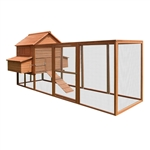 DXH1000RD Spacious Wooden Rabbits, Chickens, Hen Coop Wooden Cage 143.7 X 68.5 X 66.5 Inches (3.7 X 1.7 X 1.7 m), Red