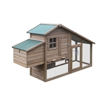 DXH657BR Wooden Rabbits, Chickens, Hen Coop Wooden Cage 75 X 25.5 X 44.5 Inches (1.9 X 0.65 X 1.1 m), Brown