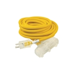 ALEKO  ECOI12G3O25FT ETL Heavy Duty 25 Foot (7.6 m) Extension Cord, Yellow