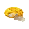 ALEKO  ECOI12G3O50FT ETL Heavy Duty 50 Foot (15.2 m) Extension Cord, Yellow