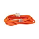 ALEKO  ECOI143G15FT ETL Heavy Duty 15 Foot Extension Cord SJTW Lighted Plug 14/3 Gauge, Orange