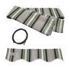ALEKO® House awnings, MULTI STRIPE GREEN 10X8 Ft Fabric for Retractable Awnings