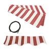 ALEKO® House awnings, RED and WHITE STRIPES 10X8 Ft Fabric for Retractable Awnings