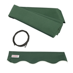 ALEKO Awning Fabric Replacement for 12x10 Ft Retractable Patio Awning, GREEN Color