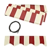 ALEKO Awning Fabric Replacement for 13x10 Ft Retractable Patio Awning, MULTI STRIPE RED