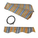 ALEKO Awning Fabric Replacement for 13x10 Ft (4x3 m) Retractable Patio Awning, Multi-Striped Sunset