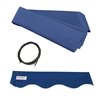 ALEKO Awning Fabric Replacement for 20x10 Ft Retractable Patio Awning, BLUE Color