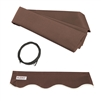 ALEKO Awning Fabric Replacement for 20x10 Ft Retractable Patio Awning, BROWN Color