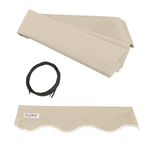 Retractable Awning Fabric Replacement - 2.4 x 2 Meter - Ivory - ALEKO