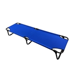 Fold Up Portable Camping Cot - Blue - ALEKO