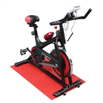 Steel Indoor Fitness Stationary Cycling Bike with Digital Display - FCT01BK- Red and Black - ALEKO