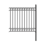 ALEKO® Dublin Style DIY Iron Wrought Steel 5.5' X 5' (1.7 X 1.5 m)  High Quality Ornamental Fence