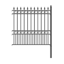 ALEKO® London Style DIY Iron Wrought Steel 5.5' X 5' (1.7 X 1.5 m)  High Quality Ornamental Fence