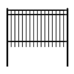 DIY Steel Iron Wrought High Quality Fence - Nice Style - 6 x 4 Feet - ALEKO
