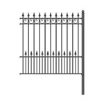 ALEKO® Prague Style DIY Iron Wrought Steel 5.5' X 5' (1.7 X 1.5 m)  High Quality Ornamental Fence