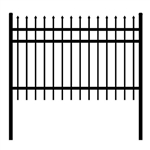 DIY Steel Iron Wrought High Quality Ornamental Fence - Rome Style - 8 x 4 Feet