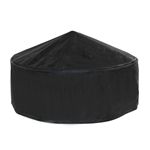 Heavy Duty Fire Pit Cover - Black - 32 x 11 Inches - ALEKO