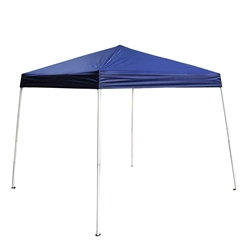 ALEKO® GAZ8-10X8-10B 8x8 Feet (2.44x2.44 m) Iron Foldable Gazebo Canopy for Outdoor Events Picnic Party, Blue Color