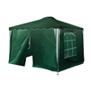 Iron Foldable Gazebo Canopy - 4 Sidewalls - Oxford Fabric - 10X10 Feet - Green - ALEKO