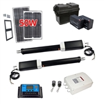 Dual Swing Gate Operator - GG1300U AC/DC - ETL Listed - Solar Kit 50W - ALEKO