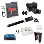 Single Swing Gate Operator - GG450 AC/DC - Solar Kit 30W - ALEKO