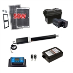 Single Swing Gate Operator - ETL Listed - GG650U - Solar Kit 50W - ALEKO