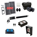 Single Swing Gate Operator - GG850 AC/DC - Solar Kit 30W - ALEKO