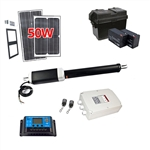 Single Swing Gate Operator - GG850 AC/DC - Solar Kit 50W - ALEKO