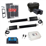 Dual Swing Gate Operator - GG900/AS900 AC/DC - Solar Kit 50W - ALEKO