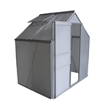 Outdoor Walk-In Poly-carbonate Greenhouse with Aluminum Frame - 132 x 191 x 196 centimeters - ALEKO