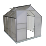Outdoor Walk-In Poly-carbonate Greenhouse with Aluminum Frame - 249 x 191 x 196 Centimeters - ALEKO