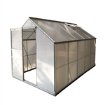 Outdoor Walk-In Poly-carbonate Greenhouse with Aluminum Frame - 310 x 191 x 196 Centimeters - ALEKO