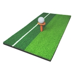 ALEKO  GHM2C12X23 Double Color Golf Mini Practicing Hitting Mat with Rubber Tee and Golf Ball