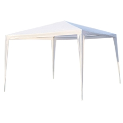 ALEKO® GZ10X10WH 10x10 Feet (3x3 m) Waterproof Gazebo Tent Canopy For Outdoor Events Picnic Parties, White Color