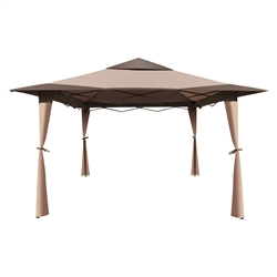 ALEKO GZB004 Double Roof 10 X 10 Foot (3.05 X 3.05 m) Polyester Picnic Sun Shade Patio Gazebo, Brown